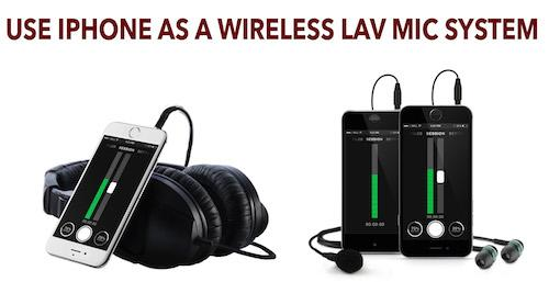 An APP let's you use your #iPhone as a Wireless Lav Microphone System. Here's how it works: http://t.co/GQnQYQ7nkC http://t.co/BK1a4sp9L0