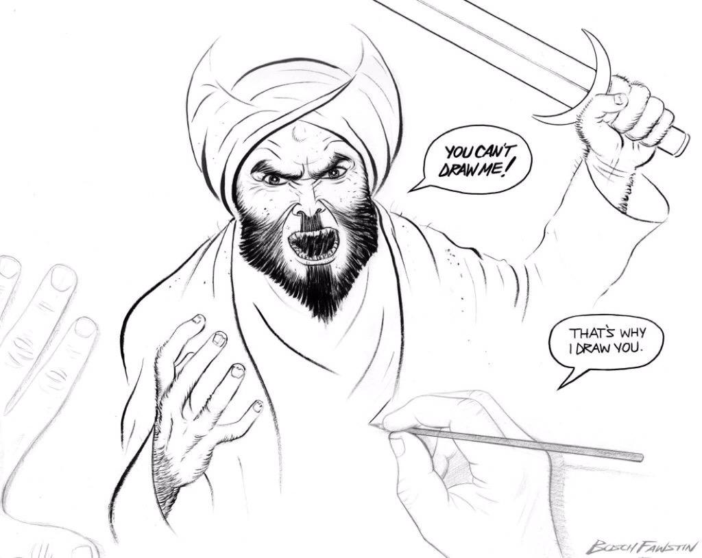 We need more American heroes like @BoschFawstin! Defending free speech- laughing in the face of Islam. #WakeUpAmerica http://t.co/inmD6TCDLE