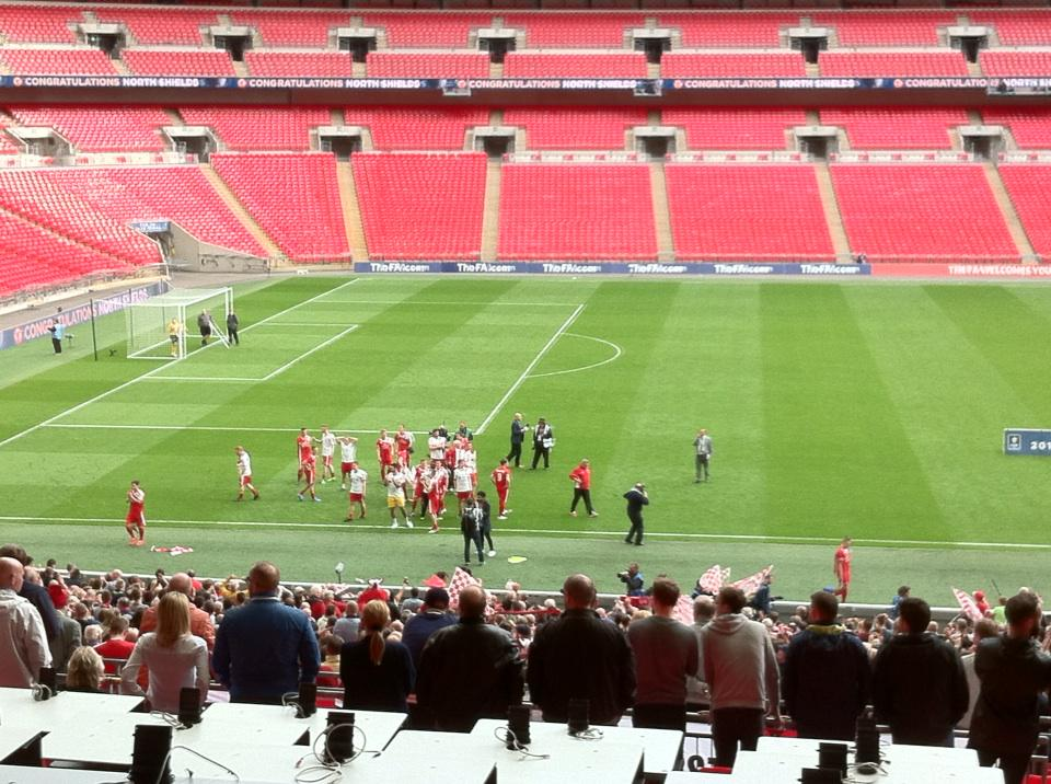 North Shields Celebrate With Fans After Fa Vase Win Tyne Tees