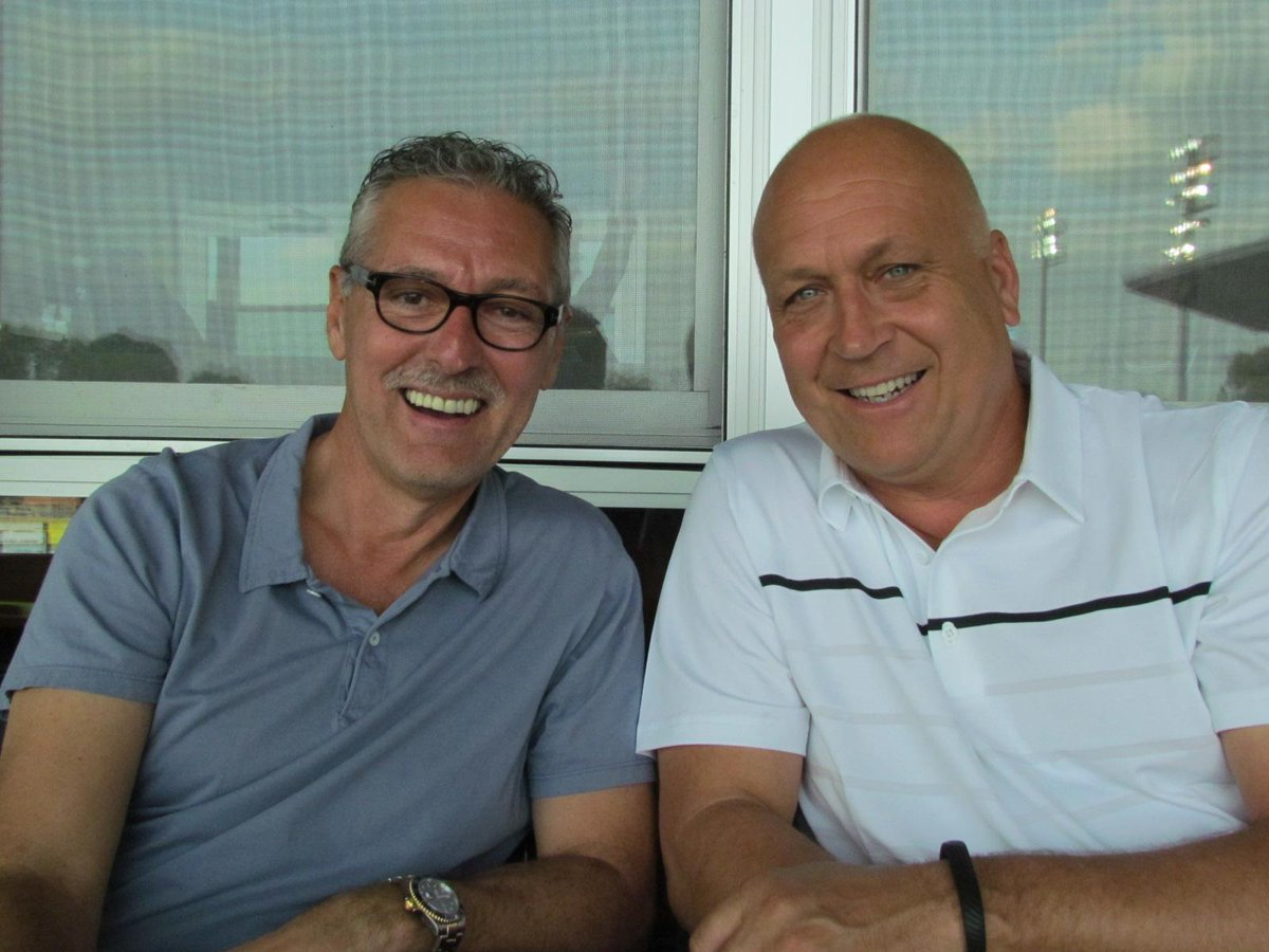 Enjoying his first #HbgSens game tonight? Cal Ripken Jr. with Senators owner Mark Butler on our suite level! http://t.co/9eBipzsRXK