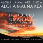 Join us tonight at Manifest in Honolulu for #protectmaunakea art show fundraiser. Bid on prints by @808urban & I. I…