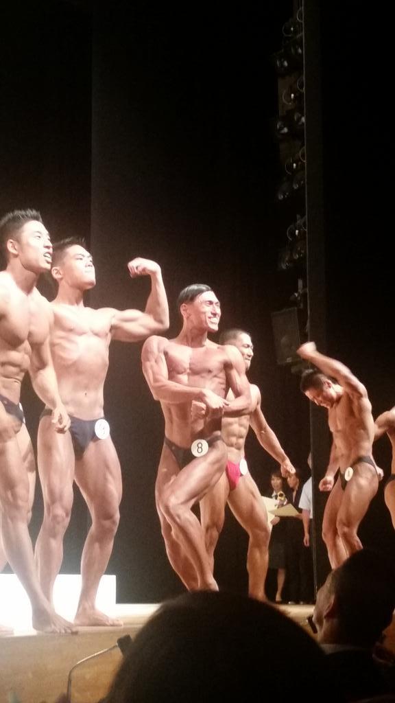 第23回東京オープンボディビル選手権大会 ミスター75kg級 8番 春日5位でした! http://t.co/DOWBpAtBR8