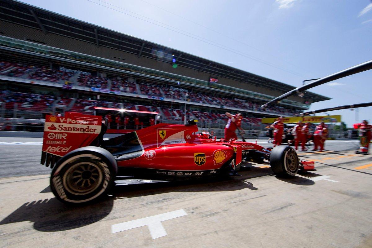 #SebastianVettel and #KimiRaikkonen finish 3rd & 5th for @ScuderiaFerrari at the #SpanishGP! http://t.co/fRTIgzrO96 http://t.co/sfYRv3ADKy