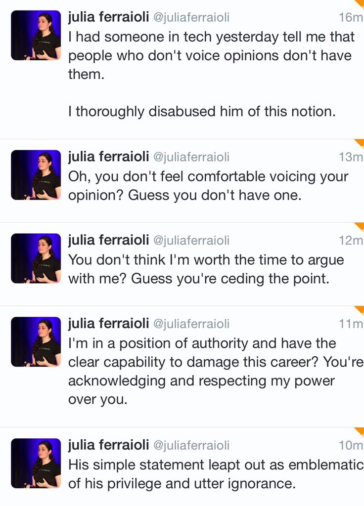 I have the opinion that @juliaferraioli is an amazing human being. http://t.co/fpK6pEwEHE