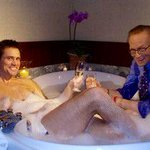 I just remembered I took a bath in 2008 with @JimCarrey on @Letterman. #itsmy2cents