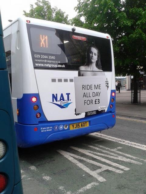 Dear @NAT_Group, I find your new promotion in Cardiff hugely uncomfortable, not to mention objectifying... http://t.co/OPipr7Ovea