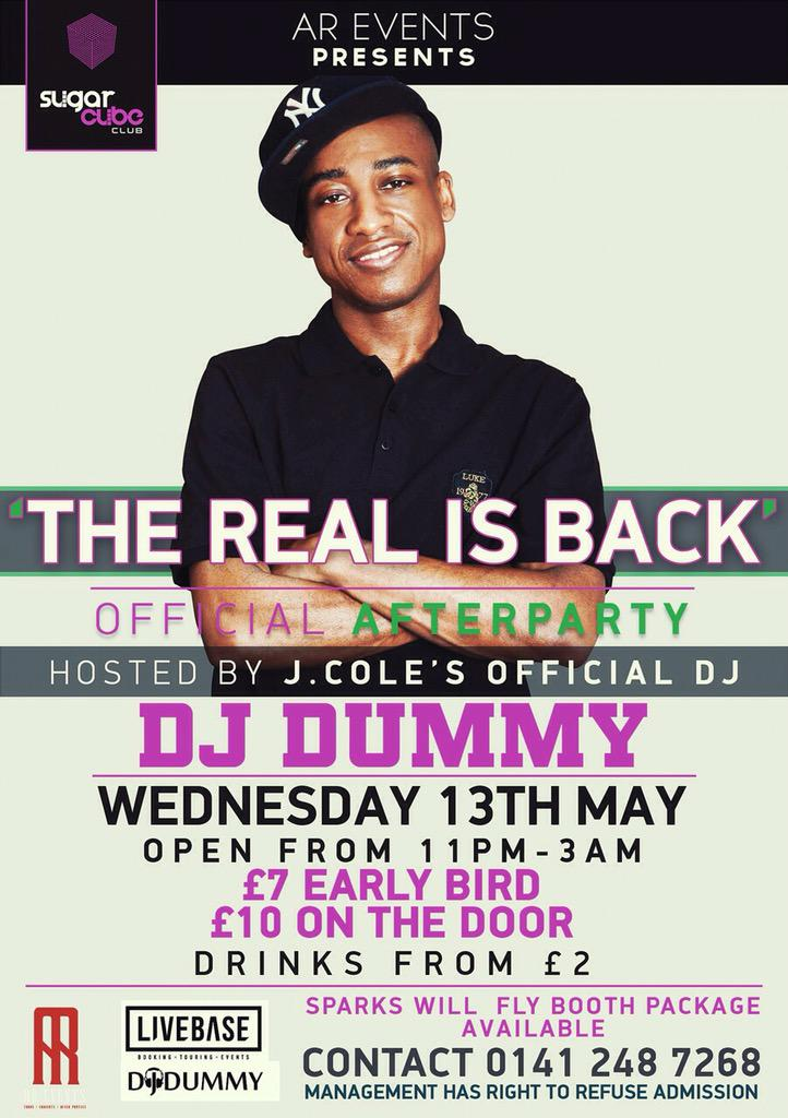 JOIN ME FOR THE AFTERPARTY ON WEDNESDAY 13TH MAY @Sugarcubeclub S/O @_LIVEBASE #FORESTHILLSDRIVETOUR http://t.co/WpArNm1m4x