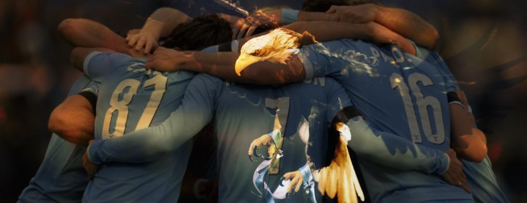 Che bello giocare con ogni uno di voi. Non mollare mai. Forza Lazio. #orgogliosodindossarequestamaglia http://t.co/26mjEg2mPA