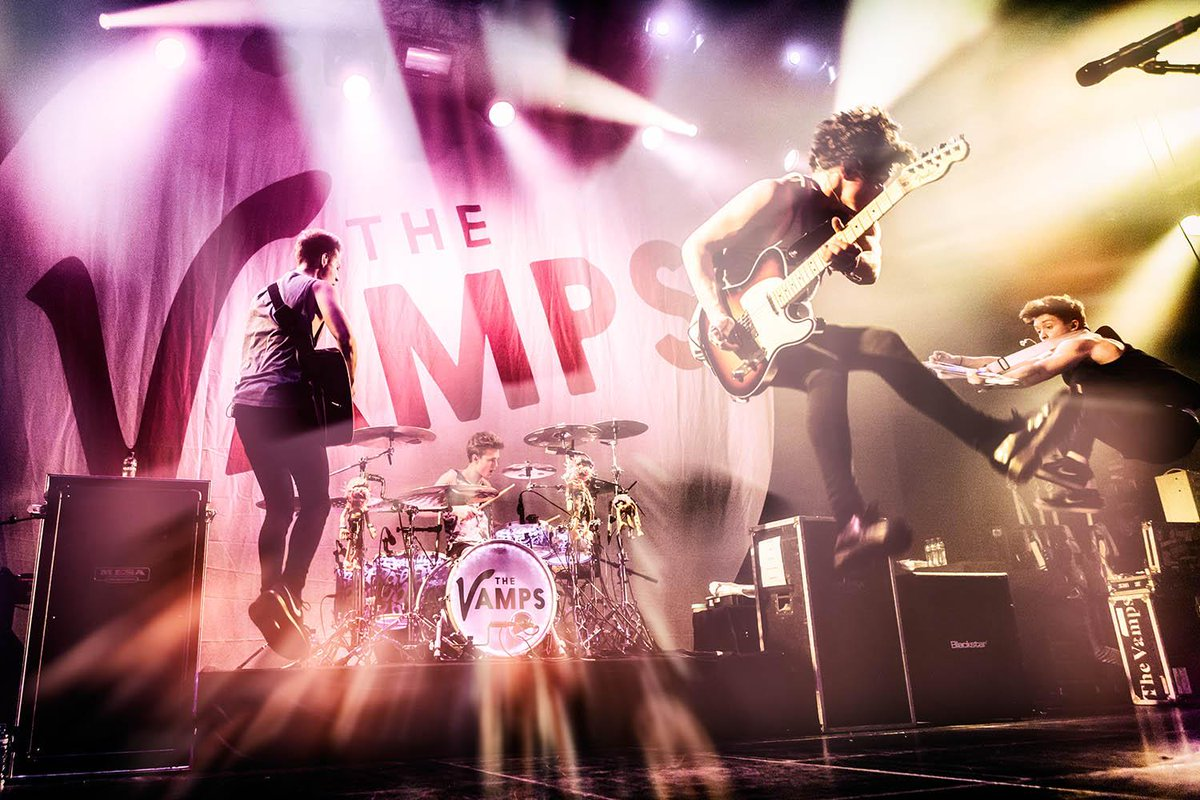 The Vamps live at Amsterdam today. Completely sold-out madness! Pic by Bart Heemskerk. #TheVamps #Melkweg #Live http://t.co/fE3zMYqPh8