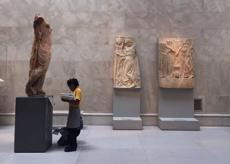 Watching cute kids sketch in the Greek and Roman Galleries at the @metmuseum. http://t.co/VvHhJ3U1wG
