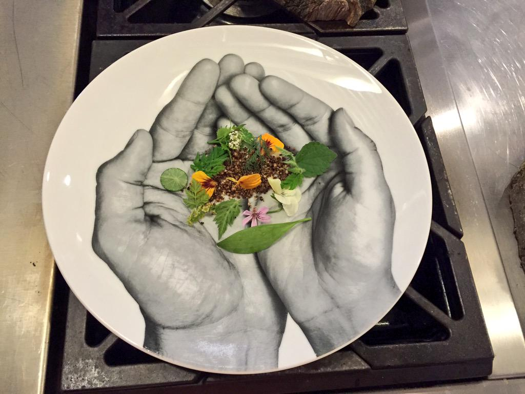 What a beautiful dish by @chefbangerter and the @Langdon_Hall crew. Appropriately named dish, Terroir. #Terroir2015 http://t.co/xScwMtoTGh