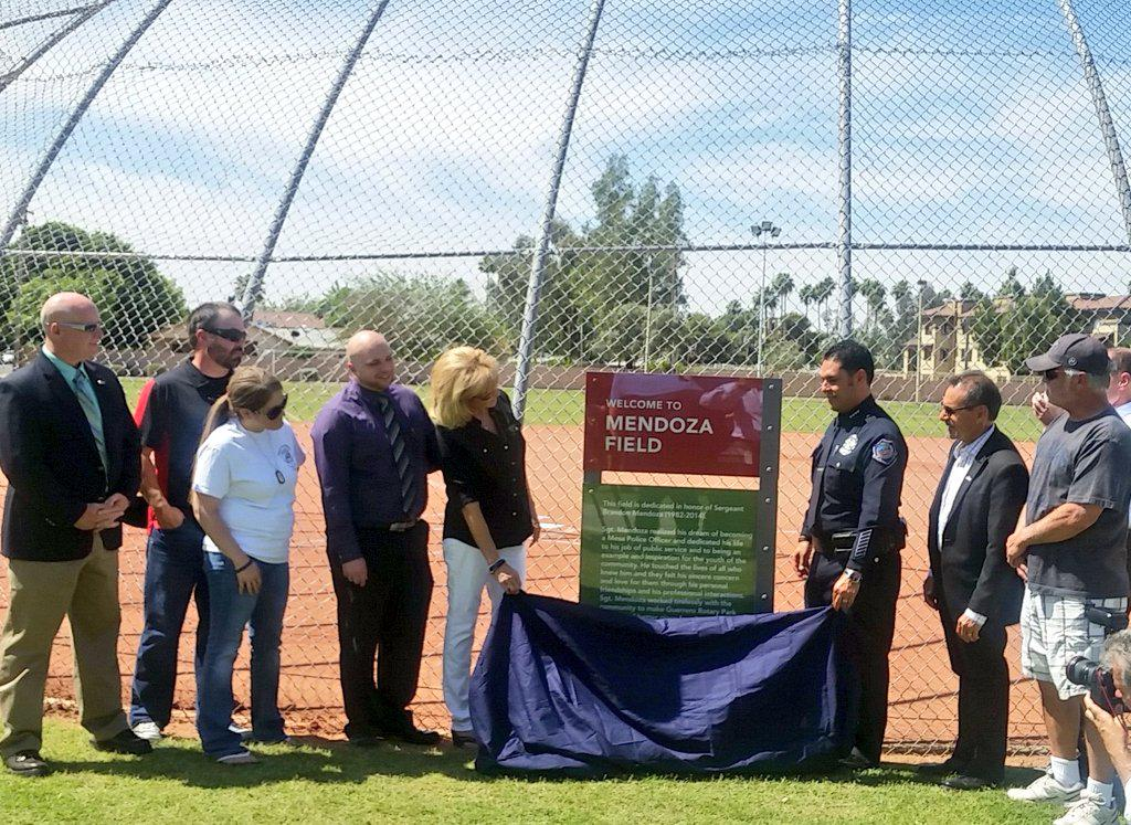 Newly named, Mendoza Field, in honor of fallen Sgt. Brandon Mendoza. Click link to support! http://t.co/pgIyqGLgqV http://t.co/Xoa1pW7nyK