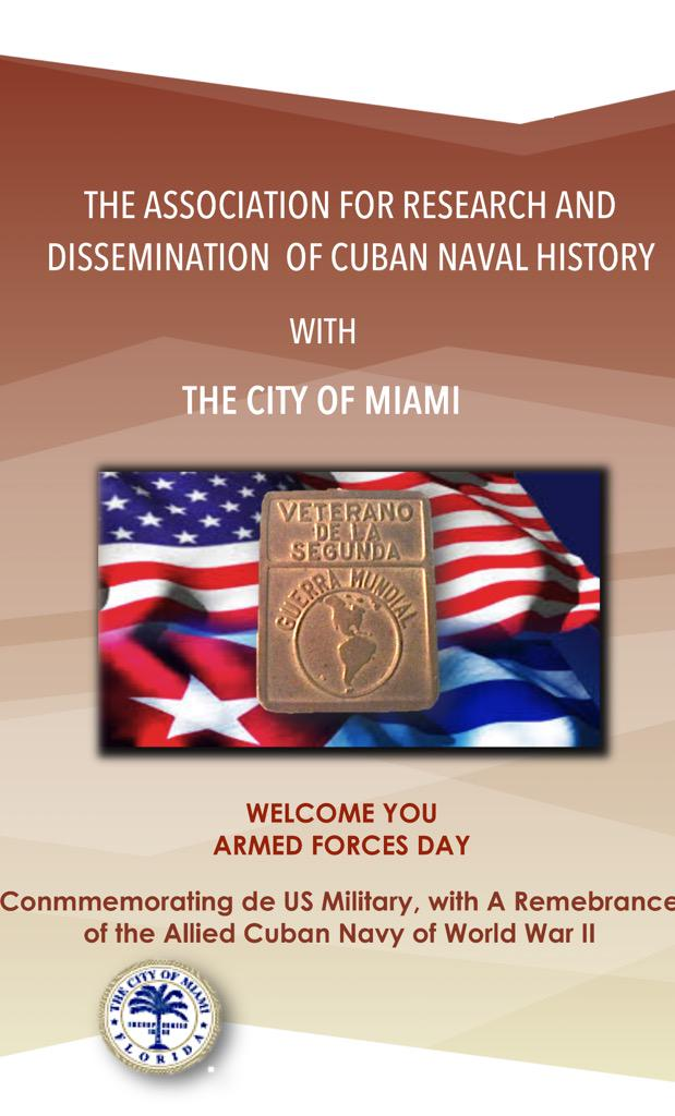 Official @cubanheritage #Miami #WWII Award Ceremony program released. @GOSTest1999 thankful for having been invited http://t.co/JHpXuGWFqY