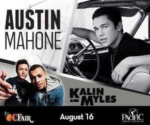 Performing Sun Aug 16 @pacamp @ocfair - @AustinMahone /  @KalinAndMyles. Tix on sale Sat #austinmahone http://t.co/tqoYZZbijm