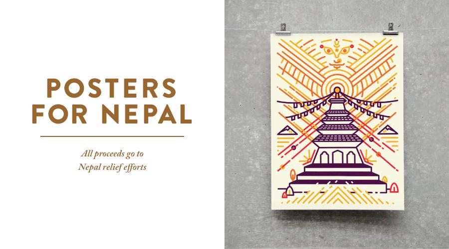 W+K Studio has designed these beautiful posters to raise funds for Nepal earthquake relief: http://t.co/Odjp6OXvJo http://t.co/Kaxj7MF3G0
