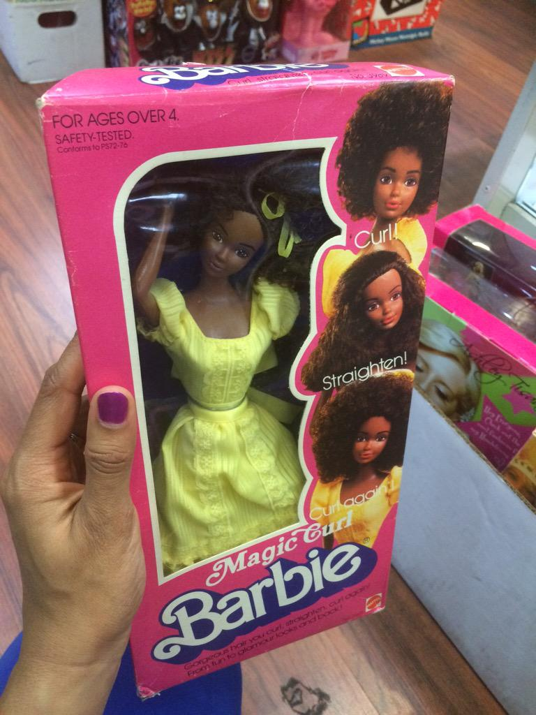 Her hair can be curly, then straight, then curly again. And other Barbies can ask to touch it! http://t.co/3sAFvY0YwJ