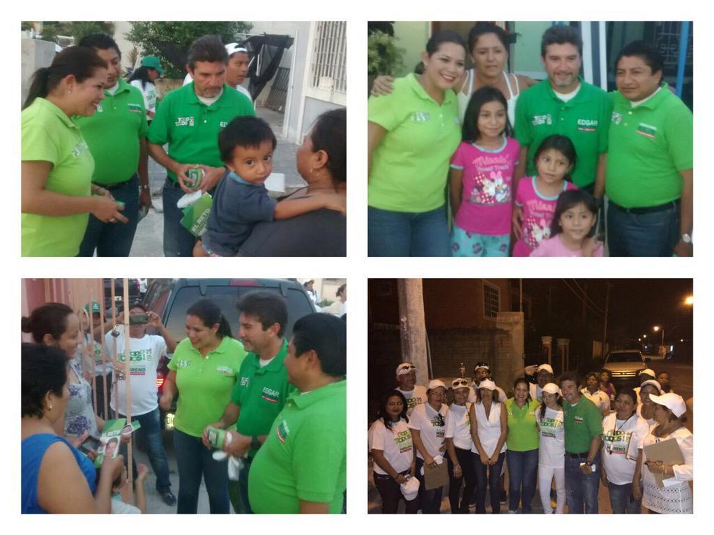 Con mucho ánimo recorrimos con @Edgarr_Hdez @MiguelSulub en Quinta de los Españoles, Hda. Sta. María y Col. México http://t.co/nAHZrzP7Zf