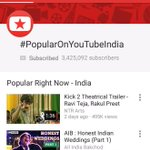 RT @smkoneru: #Kick2 Theatrical Trailer is Trending in Top Position in India :) http://t.co/T13YIvTpIf