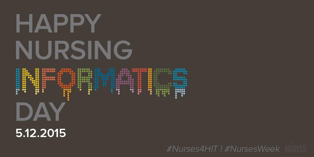 MT @HIMSSAnalytics: RT @HIMSS: Happy Nursing Informatics Day to all! #Nurses4HIT: http://t.co/cCF97s3hPU #NursesWeek http://t.co/eUGdPmoqTW