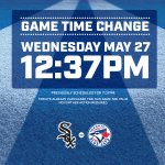 REMINDER- Todays @BlueJays game vs. #WhiteSox is at 12:37pm today. See you there! http://t.co/YBolizVXIX
