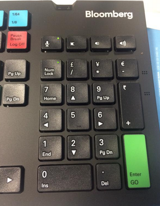 India Booming The Newest Bloomberg Terminal Keyboard Now Boasts A
