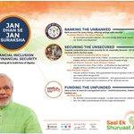 #SaalEkShuruaatAnek: Jan Dhan se Jan Suraksha- Financial Inclusion & Financial Security http://t.co/GgJm3xsVm8