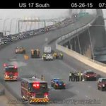 Southbound lanes of Ravenel Bridge reopened; Northbound lanes still closed - http://t.co/XGObU2wuQP http://t.co/QI5J5SO0rS