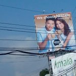 """""""@BerniceJennifer: Yeeey! First billboard ng KN sa Bacolod! Took it while driving, but what .."""" http://t.co/dqRff5gHIl"""" #PSYAngPagsinta"""