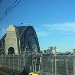 The Aboriginal flag flying on the harbour bridge to mark the start of National Reconciliation Week #NRW2015 http://t.co/iRog5wlIEP
