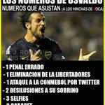 Los numeros de Osvaldo en Boca: http://t.co/V4e3lprLRR