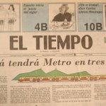 """""""@BogotaAntigua: Bogotá tendrá Metro en 3 años.  Fecha: Abril 3 de 1987 http://t.co/UGsBTw2k3T""""  @petrogustavo la rueda ya fue inventada"""
