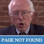 Bernie Sanders campaign sites 404 page is the most Bernie Sanders thing ever http://t.co/1ArwvIzLlr http://t.co/EwfiqASIW4