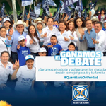 Pancho Domínguez PanchDominguez : En un debate de propuestas ganan los ciudadanos. #SomosMásQro #QuerétaroDeVerdad http://t.co/bb485cCULI