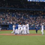 WALK OFF!!! @BringerOfRain20 gives the @BlueJays the 10-9 victory with a 3-run HR! #ComeTogether http://t.co/M3gflgRr2J