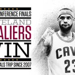 Get out your brooms! Cavs are headed to the NBA Finals for only 2nd time in franchise history after sweeping Hawks. http://t.co/tjbD6MnoG5