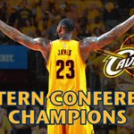 Next stop, NBA Finals. Cavs sweep Hawks with 118-88 victory. Cleveland reaches NBA Finals for 1st time since 2007. http://t.co/hxyclbXXWO