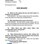 Pool report interview with tonights lead official, on the Al Horford/Mattthew Dellavedova incident: http://t.co/QaEhfmARz9