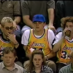 DiCaprio in 1998 in Seattle to watch his Lakers play the Sonics in the playoffs. And E from Entourage is next to him: http://t.co/XJHpPqGxJD