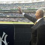 Bernies view from Monument Park looking out at the crowd. #BernieDay #51Retired http://t.co/8JsDKfwoK4