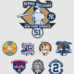 Bernie Williams in elite MLB company tonight—other living individuals honored with a sleeve patch #Yankees http://t.co/xT1R96op7N