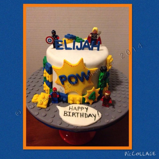 Finished my son's cake last night! :) he loooooved it & couldn't wait to play w/ the legos! Lol! http://t