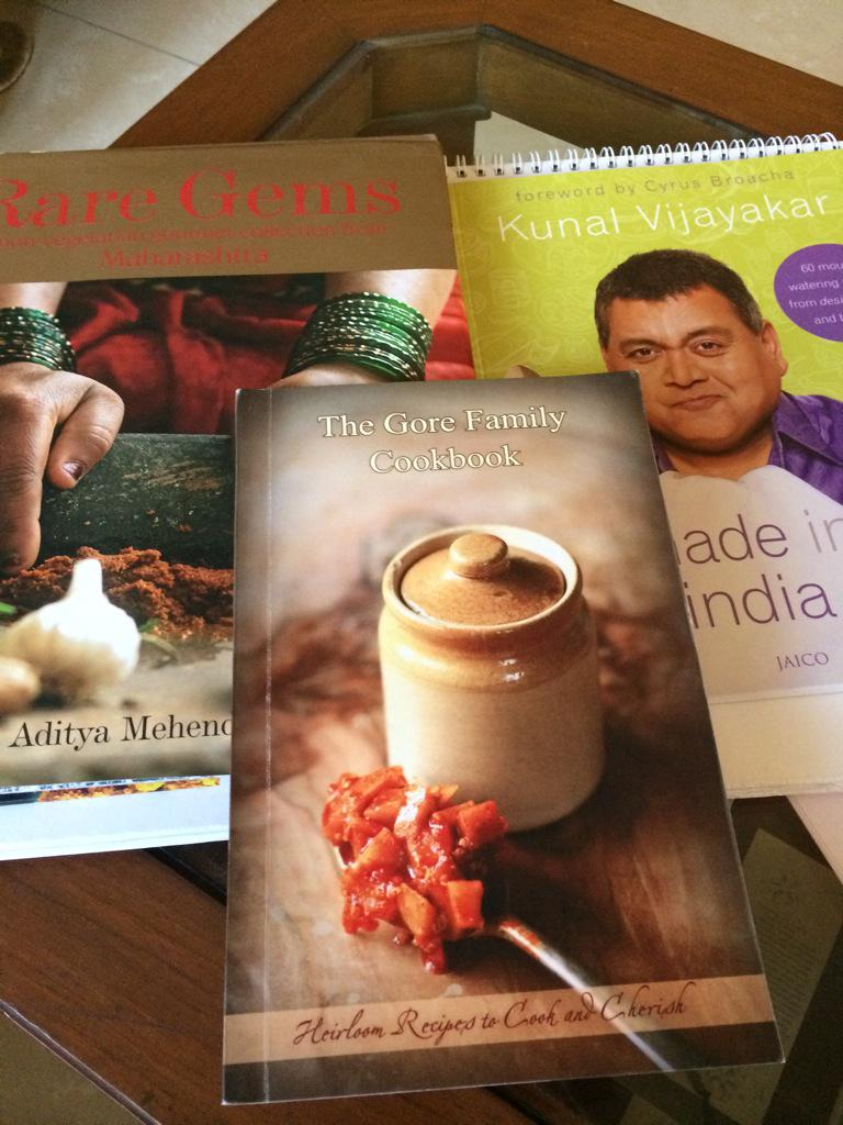 Three lovely books on Maharashtrian food http://t.co/y8zwV0BLe2