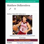 Matthew Dellavedovas Wikipedia page has been updated by what appears to be an Atlanta Hawks fan... ???????????????? http://t.co/PjF9CQdZqH