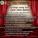 Yuk siap-siap nonton @Ini_Talkshow di @netmediatama dan ikutan #QGuavaIniTalkshow! http://t.co/dzWrkM0lO2