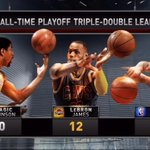 .@KingJames just passed @RealJasonKidd for the 2nd most triple-doubles in playoff history! http://t.co/EBVumFhJJY