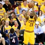 LeBron James (18 Pts, 13 Reb, 11 Ast) gets his first triple-double in the playoffs since 2013. http://t.co/n5zd0jaZGn