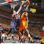 Video: LeBron James throws down monster dunk over two Hawks: http://t.co/55oQFNz00Z http://t.co/AFF1erUYiu