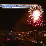 Fireworks going off for Celebration at the Station tonight. http://t.co/taADnnn0lJ
