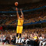 JR from distance! @Cavs lead @ATLHawks by 3 w/ 2:30 to-play in OT on @NBAonTNT. #NBAPlayoffs http://t.co/AXIK0KFqGd
