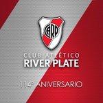 Felices 114 años River!!! 114 años de alegrías, gloria, buen futbol e historia! El Club mas grande de Argentina! http://t.co/yL8pZrwlCW